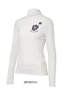 即納 送料無料 カッパ レディース襟ギャザー入り長袖ハイネックシャツ デポー KG562LS76WT ホワイト 上質 Mサイズ 白レディス ゴルフウェア長袖シャツ ポロシャツ ゴルフ Kappa 1658
