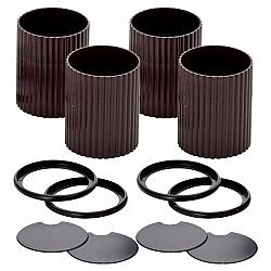 人気の定番 2段階の高さ調節が可能です テーブル ベッド こたつ 高さ調整 継ぎ脚 4個組 チョコレートブラウン 2個組×2セット サークル 本物 C ハイヒールプラス