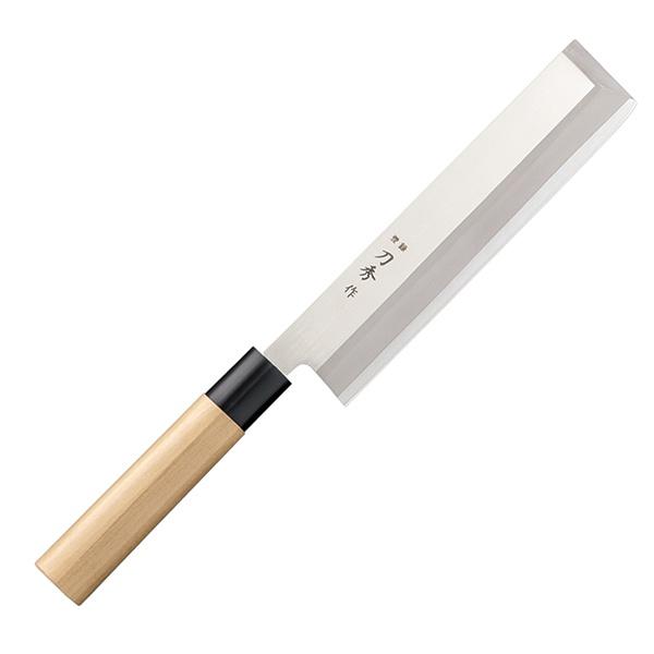 扱いやすいリブデンバナジウム鋼の角型薄刃包丁 メイルオーダー 菜切包丁 和包丁 日本製 刀秀作 FC-366 角型薄刃包丁 安い 195mm モリブデンバナジウム鋼