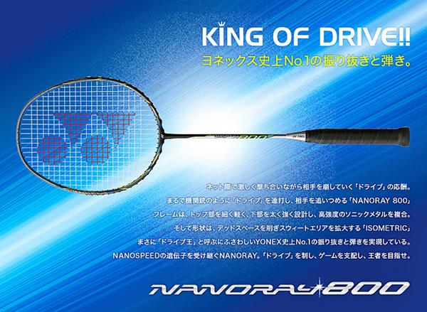 YONEXヨネックス バドミントンラケット ナノレイ800(360)NR800
