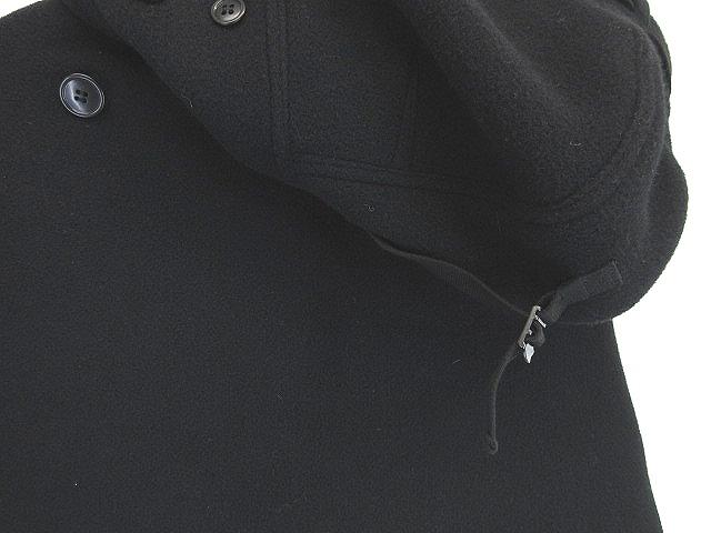 ジュンヤワタナベ 180221 ブランド古着ベクトルプレミアム店 秋 ブラック ポンチョ 10AW 【中古】 JUNYA WATANABE 【ベクトル 古着】 コムデギャルソン 黒 メルトン アシンメトリー レディース AD2010 S 冬 コレクション