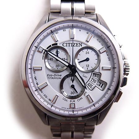 シチズン CITIZEN エクシード EXCEED エコドライブ チタニウム 腕時計 ウォッチ Eco-Drive Titanium クロノグラフ H610-S077061 メンズ 【中古】【ベクトル 古着】 180902 ブランド古着ベクトルプレミアム店