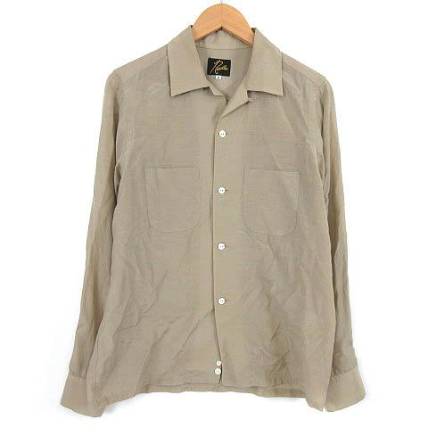 ニードルス Needles Cut-Off Bottom Classic Shirt シャツ 長袖 カットオフ ベージュ XS メンズ 【中古】【ベクトル 古着】 180721 ブランド古着ベクトルプレミアム店