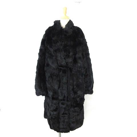 【中古】 ポッシュ POSH コート ロング 毛皮 ファー ミンク 46 黒系 0413 IBS17 レディース 【ベクトル 古着】 190414