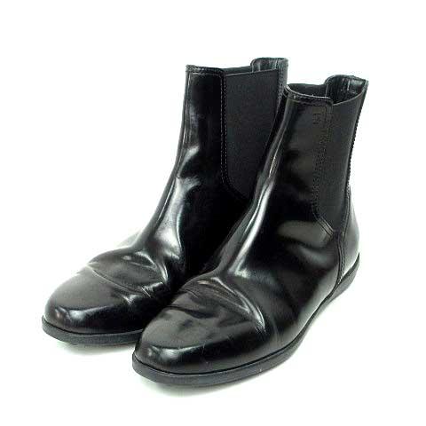 トッズ TOD'S ブーツ ショートブーツ 靴 エナメル 黒 278-A レディース 【中古】【ベクトル 古着】 170713 ブランド古着ベクトルプレミアム店