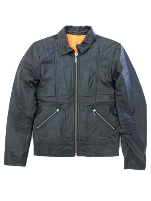 【中古】ヌーディージーンズ nudie jeans レザージャケット Johnny Leather Jacket ライダース 美品 ジップフライ ヤギ革 タイトフィット 裏地キルティング ブラック S 190809A メンズ 【ベクトル 古着】 190809 ベクトルプレミアム店