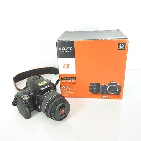 ソニー SONY デジタル 一眼 カメラ アルファ α55 Zoom Lens Kit DT18-55mm F3.5-5.6 SAM SLT-A55VL ■O-181115 【中古】【ベクトル 古着】 181118 ベクトルプラス市場店