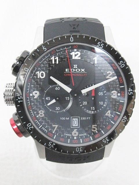EDOX エドックス CHRONORALLY クロノラリー1 腕時計 ブラック 黒 10305 0715 メンズ 【中古】【ベクトル 古着】 180715 ブランド古着ベクトルプレミアム店