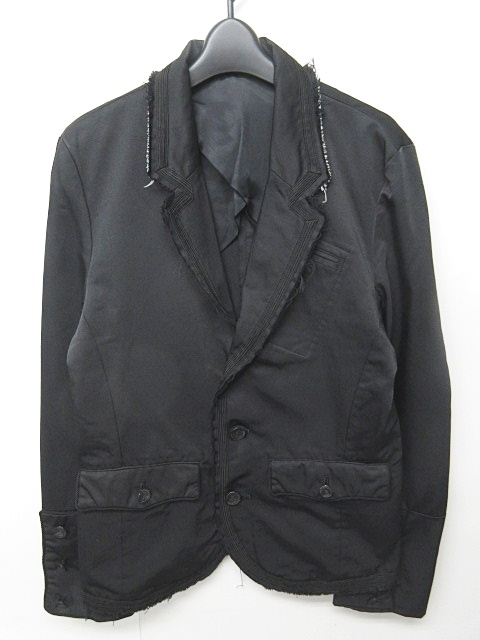 アンダーカバーイズム UNDERCOVERISM FOR REBELS 加工 テーラードジャケット ブレザー 3B ノーベント 黒 ブラック M 1010 メンズ 【中古】【ベクトル 古着】 181012 ブランド古着ベクトルプレミアム店