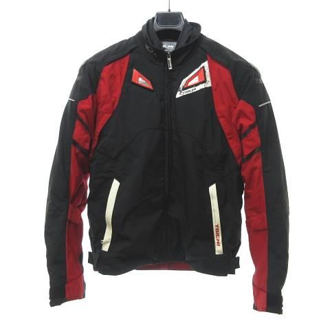 【中古】RS TAICHI タイチ RSJ298 ドライマスター プライム オールシーズン ジャケット ブルゾン バイクウェア バイカー 黒 ブラック 赤 レッド M 0407 メンズ 【ベクトル 古着】 200407 ベクトルプレミアム店
