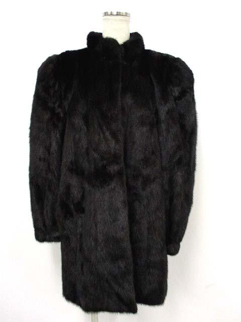 【中古】 FOND ミンクコート 毛皮 リアルファー ブラック 黒 6 アウター IBS11 190327MS15B レディース 【ベクトル 古着】 190328