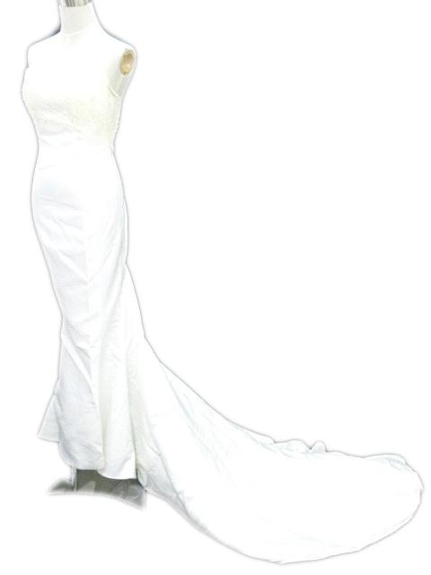 ウェディングドレス 白 ホワイト レース マーメイド ベアトップ ビジュー 結婚式 フォーマル IBS レディース 【中古】【ベクトル 古着】 180216 ブランド古着ベクトルプレミアム店