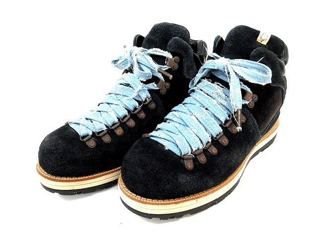 ビズビム VISVIM マウンテン ブーツ スエード レザー 黒 ブラック カラコ柄 レースアップ シューズ サイズ 10 ビブラムソール 12AW 靴 くつ IBS メンズ 【中古】【ベクトル 古着】 180510 ブランド古着ベクトルプレミアム店
