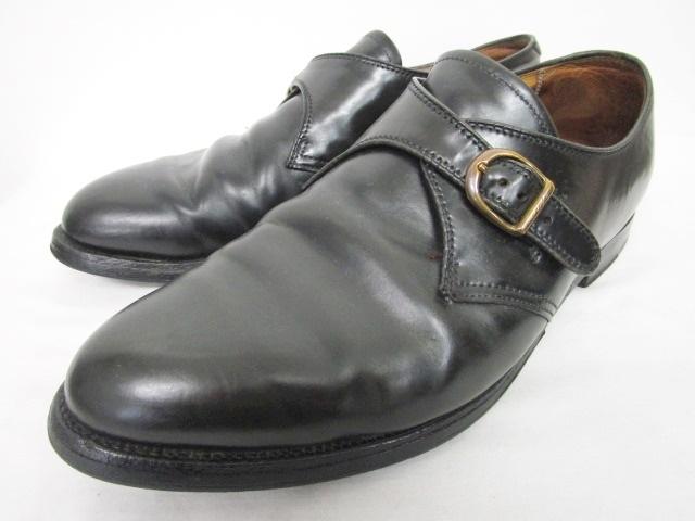 オールデン ALDEN 1655 モンクストラップ ローファー シューズ コードバン レザー 革靴 黒 ブラック 9M 0619 メンズ 【中古】【ベクトル 古着】 180619 ブランド古着ベクトルプレミアム店