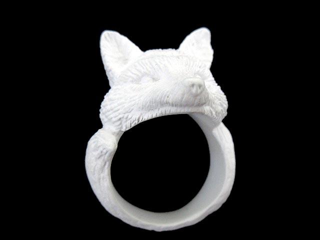 フィンガーフォックスアンドシャツ FINGER FOX AND SHIRTS FFAS 925 Silver FOX Ring (WHITE) キツネ フォックス 指輪 リング 白 ホワイト M 19号 FFF Y メンズ 【中古】【ベクトル 古着】 180801 ブランド古着ベクトルプレミアム店