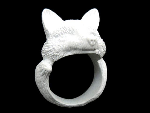 未使用品 フィンガーフォックスアンドシャツ FINGER FOX AND SHIRTS FFAS 925 Silver FOX Ring (WHITE) キツネ フォックス 指輪 リング 白 ホワイト XS 15号 FFF Y メンズ 【中古】【ベクトル 古着】 180815 ブランド古着ベクトルプレミアム店