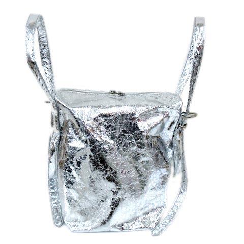 【中古】 未使用品 ズッカ zucca 今期 19SS アルミニウム バッグ ショルダー Aluminum bag メタリック シルバー ZU91-AG051 A レディース 【ベクトル 古着】 190414