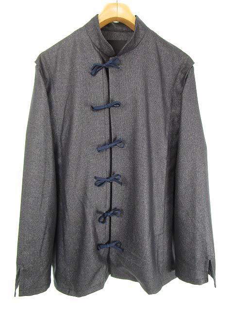 ウィエップ WEYEP pleats shirt jacket シャツ ジャケット チャイナシャツ M ネイビー W-113 【中古】【ベクトル 古着】 180403 ブランド古着ベクトルプレミアム店