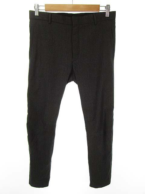 ランバン LANVIN zip cuff tailored trousers テーラード パンツ トラウザー 44 チャコールグレー 国内正規品 メンズ 【中古】【ベクトル 古着】 181222 ブランド古着ベクトルプレミアム店