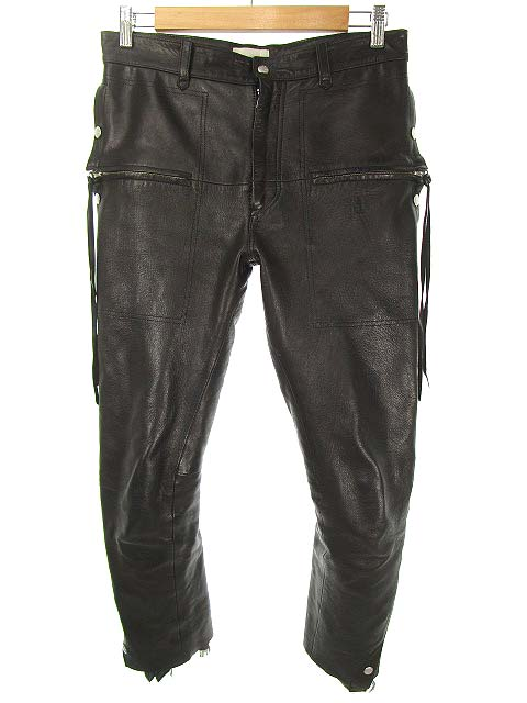 ベッドフォード BED J.W. FORD 18AW-B-PT05-1 Layered pants ver.2 レイヤード レザー パンツ 1 ブラック メンズ 【中古】【ベクトル 古着】 181223 ブランド古着ベクトルプレミアム店