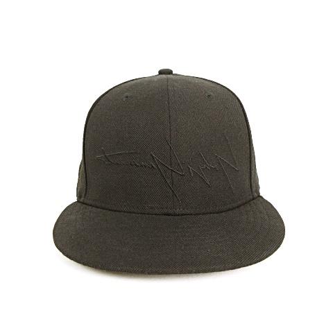 【中古】 ヨウジヤマモトプールオム YOHJI YAMAMOTO POUR HOMME × NEW ERA 59FIFTY YY Logo Cap ニューエラ キャップ 帽子 反転ロゴ シグネチャーロゴ 同色刺繍 ウール 7 3/8 / 58.7cm ブラック 黒 美品 メンズ/レディース/ユニセックス 【ベクトル 古着】 190408
