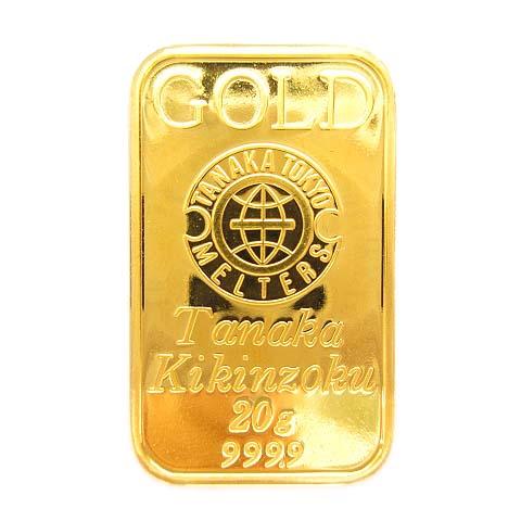 【中古】 田中貴金属 インゴット バー 20g K24 純金 FINE GOLD ゴールド 999.9 【ベクトル 古着】 190406