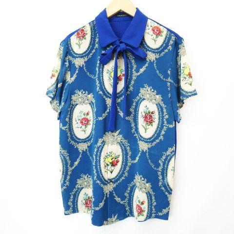 【中古】ミルクボーイ MILKBOY FLOWERET SHIRTS リボンタイ 半袖シャツ 青 ブルー メンズ 【ベクトル 古着】 200228 ベクトルプレミアム店