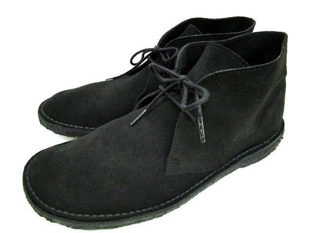 クラークス clarks xUNITED ARROWS ユナイテッドアローズ デザートブーツ スエード 061013292 靴 シューズ 9 黒 ブラック 27cm B90694 メンズ 【中古】【ベクトル 古着】 180510 ブランド古着ベクトルプレミアム店