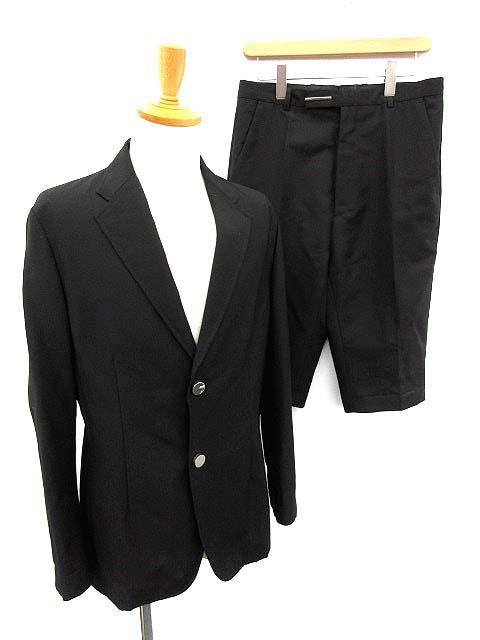 ラフシモンズ RAF SIMONS スーツ セットアップ 上下 ジャケット ショートパンツ 48 黒 /KH メンズ 【中古】【ベクトル 古着】 180308 ブランド古着ベクトルプレミアム店