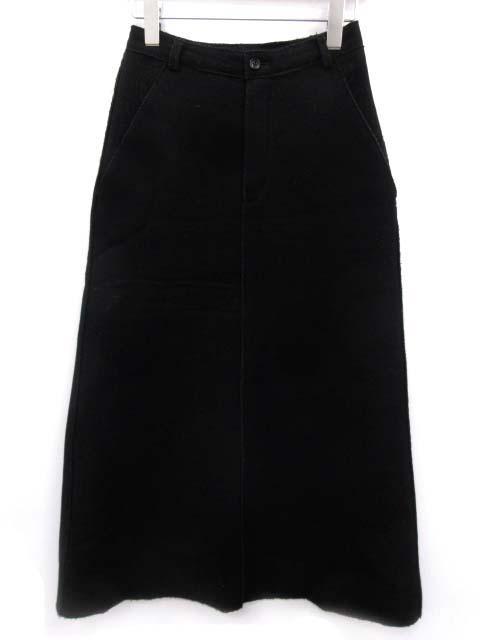 ローブドシャンブル robe de chambre ギャルソン スカート ロング ウール M 黒 /EK レディース 【中古】【ベクトル 古着】 180403 ブランド古着ベクトルプレミアム店