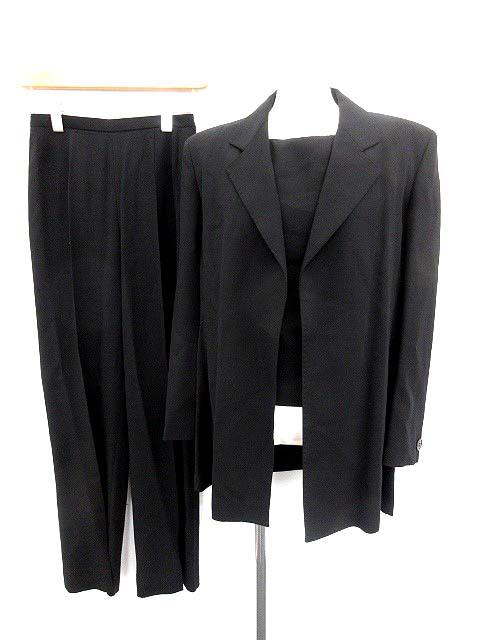 マックスマーラ MAX MARA セットアップ スーツ 3点セット ジャケット ブラウス パンツ 黒 36 /☆Q29 レディース 【中古】【ベクトル 古着】 180509 ブランド古着ベクトルプレミアム店