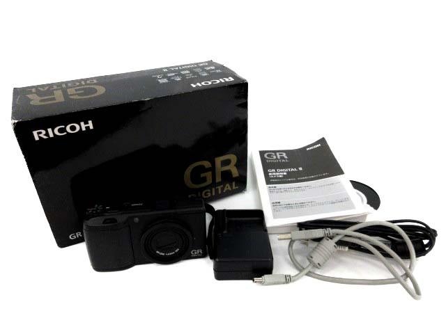 リコー RICOH GR DIGITAL 2 コンパクトデジタルカメラ デジカメ 1001万画素 f=5.5mm 1:2.4 黒 /☆K 【中古】【ベクトル 古着】 180607 ベクトルプラス市場店