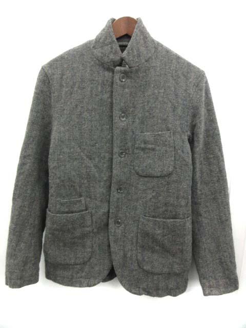 【3MJK】エンジニアードガーメンツ Engineered Garments ウールジャケット ストライプ 中綿 S グレー /EK メンズ 【中古】【ベクトル 古着】 190121 ブランド古着ベクトルプレミアム店