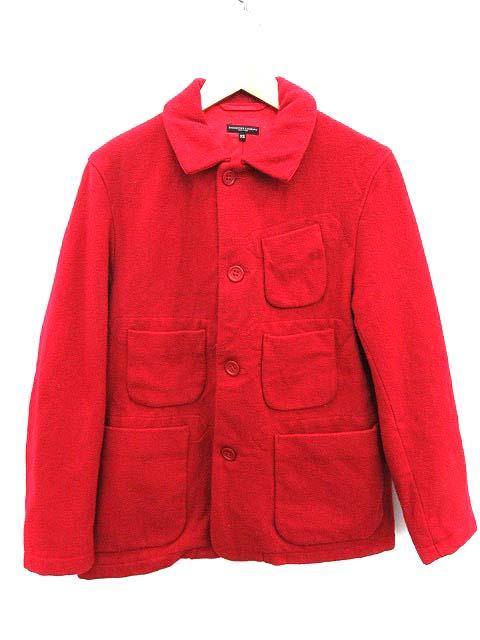 【3MCO】エンジニアードガーメンツ Engineered Garments ステンカラーコート ショート ウール XS 赤 /KH ●D メンズ 【中古】【ベクトル 古着】 190129 ブランド古着ベクトルプレミアム店