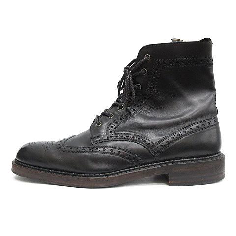 フットザコーチャー foot the coacher ブーツ ウィングチップ レザー 9.5 黒 ブラック /OG14 メンズ 【中古】【ベクトル 古着】 190315 ブランド古着ベクトルプレミアム店