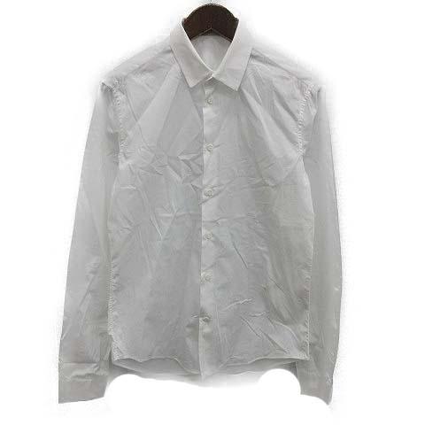 【中古】 バレンシアガ BALENCIAGA シャツ 長袖 39 白 ホワイト /OG4 ■KRA メンズ 【ベクトル 古着】 190402