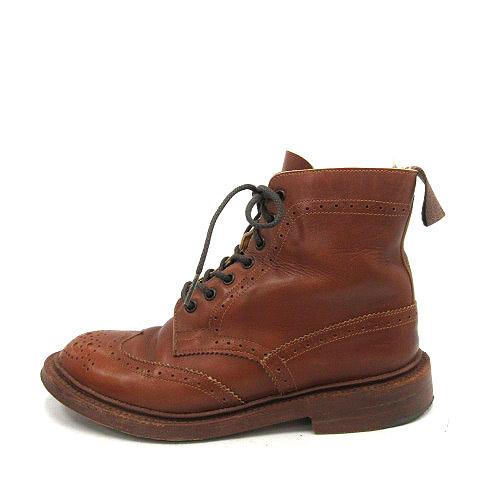 【中古】トリッカーズ TRICKER'S ブーツ ショート MALTON モールトン Brogue Boots UK5 茶 ブラウン L5180 /YO14■CA レディース 【ベクトル 古着】 200625 ベクトルプレミアム店