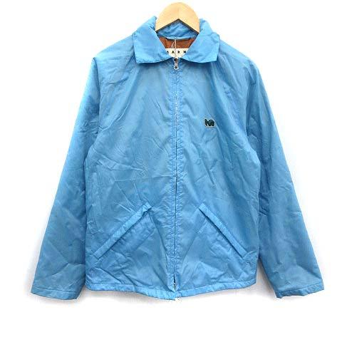 【中古】マルニ MARNI 18SS ジャケット 中綿 ジップアップ ナイロン フード 46 水色 ブルー /KH メンズ 【ベクトル 古着】 200401 ベクトルプレミアム店