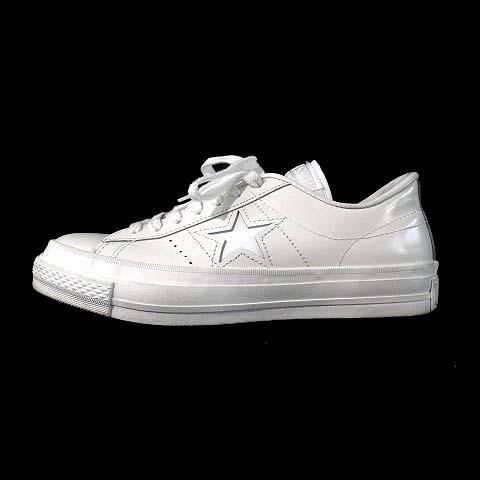 コンバース CONVERSE ONE STAR ワンスター スニーカー ローカット レザー 32346870 白 4 1/2 靴 レディース 【中古】【ベクトル 古着】 180529 ブランド古着ベクトルプレミアム店