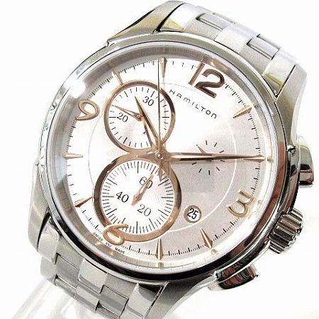 【中古】 ハミルトン HAMILTON 腕時計 ジャズマスター クロノグラフ H32612155 クォーツ ステンレス シルバー メンズ 【ベクトル 古着】 190401