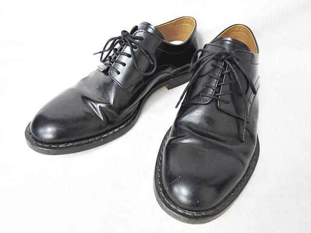 マルタンマルジェラ Martin Margiela 22 17SS Brushed Effect Shoes ダービーシューズ レースアップ プレーン レザー ブラック 黒 40 0602 メンズ 【中古】【ベクトル 古着】 180602 ブランド古着ベクトルプレミアム店