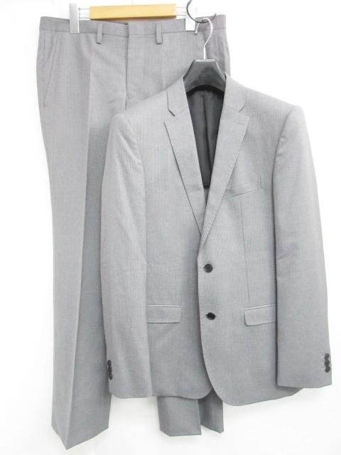 ブラックバレット バイ ニールバレット BLACKBARRETT by neil barrett スーツ セットアップ 上下 シングル 2B 半裏 ストライプ グレー 灰 2R 1102 メンズ 【中古】【ベクトル 古着】 181102 ブランド古着ベクトルプレミアム店