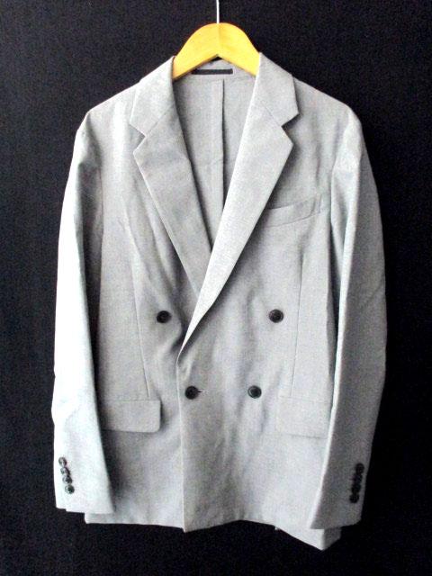 トゥモローランド TOMORROWLAND アンコンジャケット ダブルブレスト 袖裏 グレー 42 メンズ 【中古】【ベクトル 古着】 180609 ブランド古着ベクトルプレミアム店