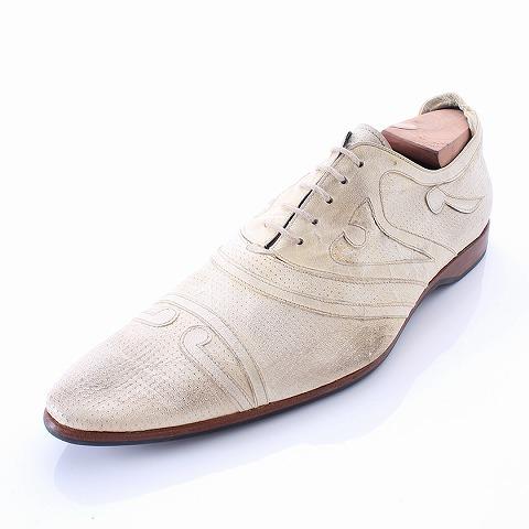ブルーノ ボルテーゼ BRUNO BORDESE シューズ 28cm 革靴 カジュアル ベージュ メンズ 【ベクトル 古着】【中古】
