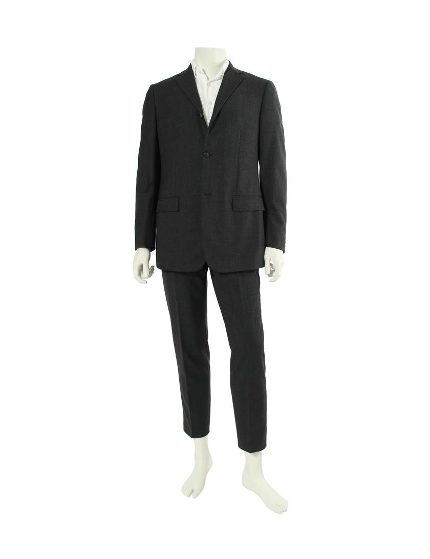 ジルサンダー JIL SANDER 3B ツーピース シングルブレスト パンツスーツ 48 (M) ウール100% グレー メンズ 【ベクトル 古着】【中古】