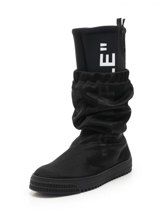 オフホワイト OFF WHITE ロングブーツ 黒 42 シューズ 27cm OMIA100F187990151001 2018シーズン Sample boots メンズ 【中古】【ベクトル 古着】 ブランド古着ベクトルプレミアム店
