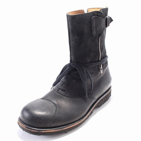 メゾン マルタン マルジェラ Maison Martin Margiela ブーツ レザー 27cm 黒 メンズ 【ベクトル 古着】【中古】