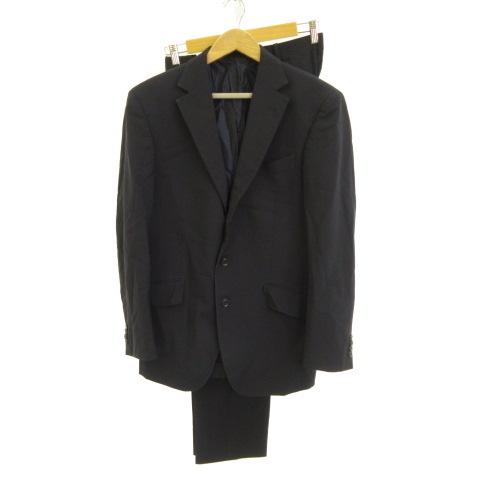 中古 GINZA Global Style 海外 スーツ 100%品質保証 セットアップ テーラードジャケット パンツ スラックス 2008 古着 200818 ベクトル 薄手 メンズ ベクトルプレミアム店 紺 E575
