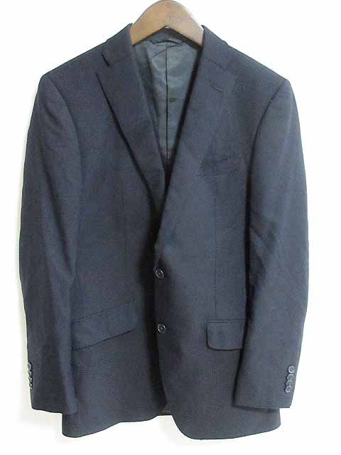 中古 ミスタージュンコ Mr.JUNKO ジャケット ブレザー シングルボタン ウール 100 92YA6 至高 ベクト ベクトル ベクトルプレミアム店 メンズ 黒 販売期間 限定のお得なタイムセール 古着 200214