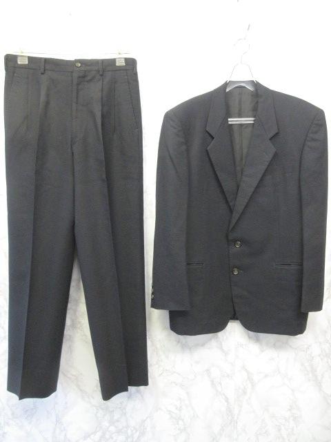 コムデギャルソンオムドゥ COMME des GARCONS HOMME DEUX スーツ セットアップ 上下 シングル 2B 2タック ウール 黒 M メンズ 【中古】【ベクトル 古着】 170214 ブランド古着ベクトルプレミアム店
